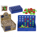 wholesale Mind Games: Mini game, four in a row, approx. 6 x 10 cm,